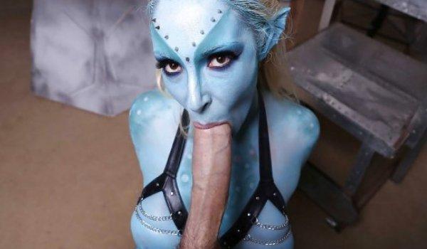Avatar safada com a piroca na boca